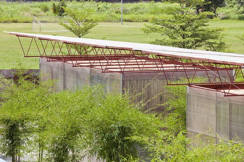 Công trình bằng tre và tấm lợp Polycarbonate cho KTS Võ Trọng Nghĩa thiết kế