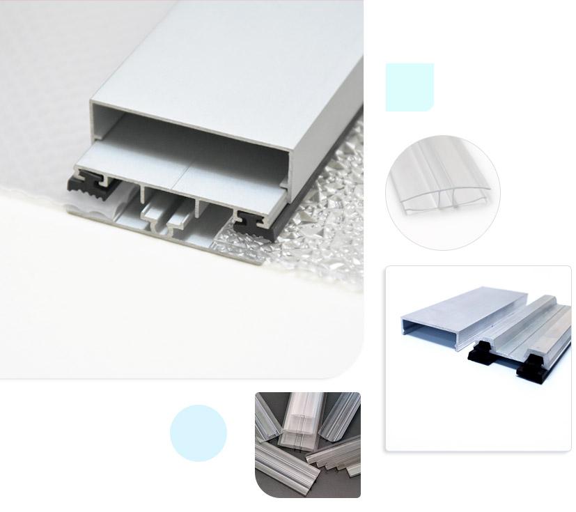 Phụ kiện nẹp H U cho tấm Polycarbonate