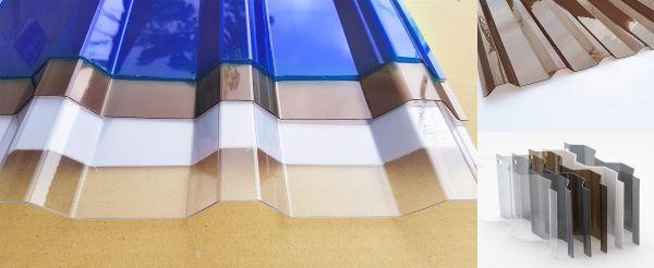 Tấm lợp lấy sáng Polycarbonate dạng sóng vuông