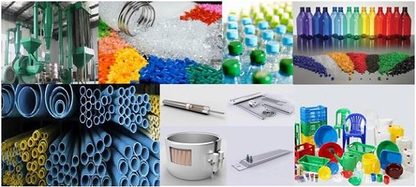 Sử dụng nhựa PVC trong ống thoát nước, màng bọc,..