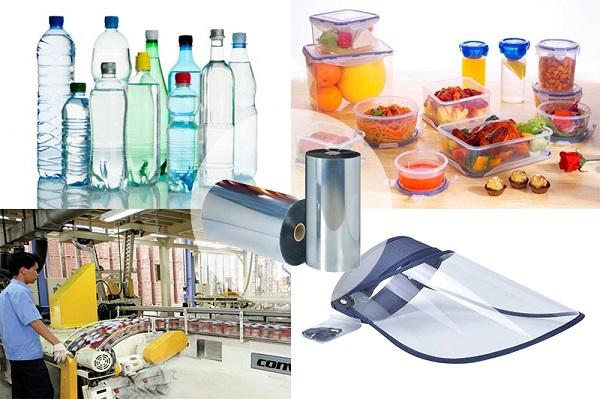 Nhựa HDPE được ứng dụng dùng làm chai lọ, đồ đựng thực phẩm,...