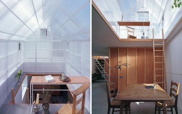 Ngôi nhà đón ánh nắng tự nhiên từ tấm lợp polycarbonate
